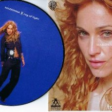 Discos de vinil: MADONNA 7 INCH VINYL SINGLE RAY OF LIGHT ONE SIDED PICTURE DISC MADAME X. Lote 224642451