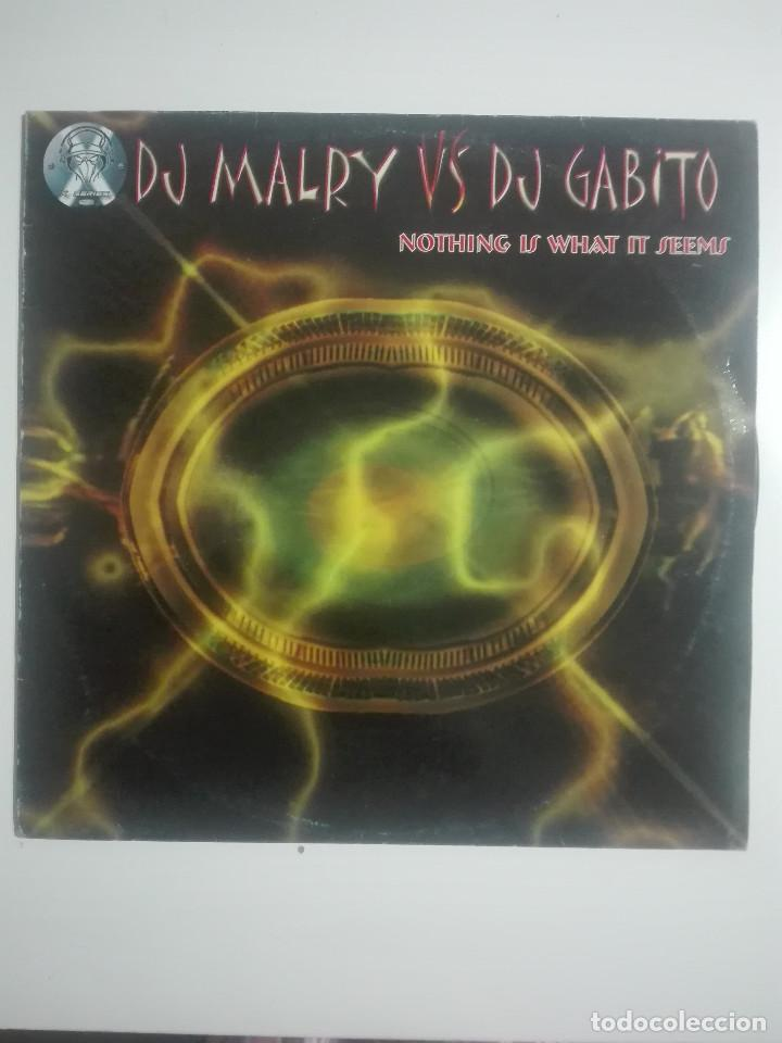 DISCO VINILO DJ MALRY VS DJ GABITO NOTHING IS WHAT IT SEEMS -HARDCORE - UNICO EN TC -240G (Música - Discos de Vinilo - Maxi Singles - Otros estilos)