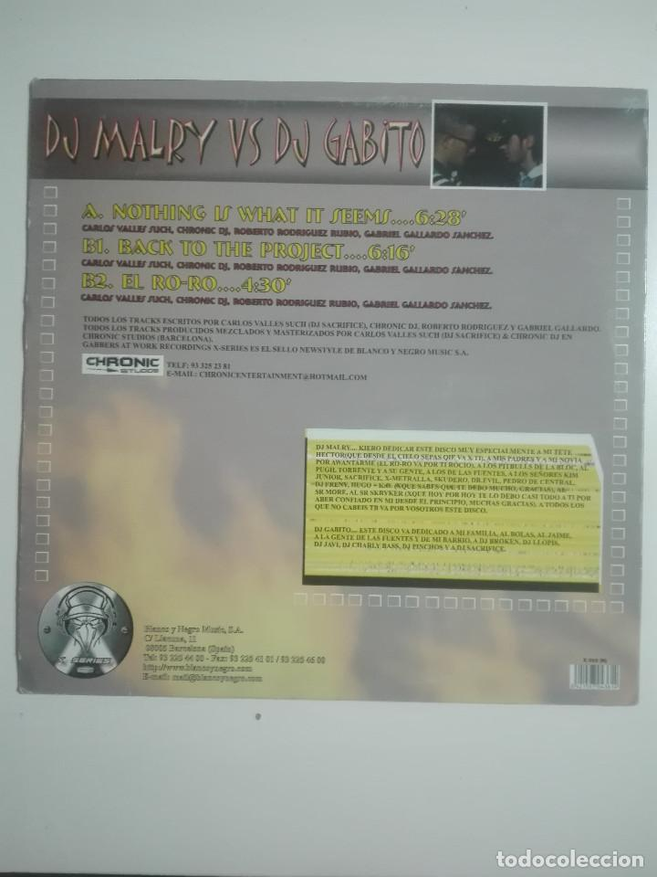 Discos de vinilo: DISCO VINILO DJ MALRY VS DJ GABITO NOTHING IS WHAT IT SEEMS -HARDCORE - UNICO EN TC -240g - Foto 3 - 224648540