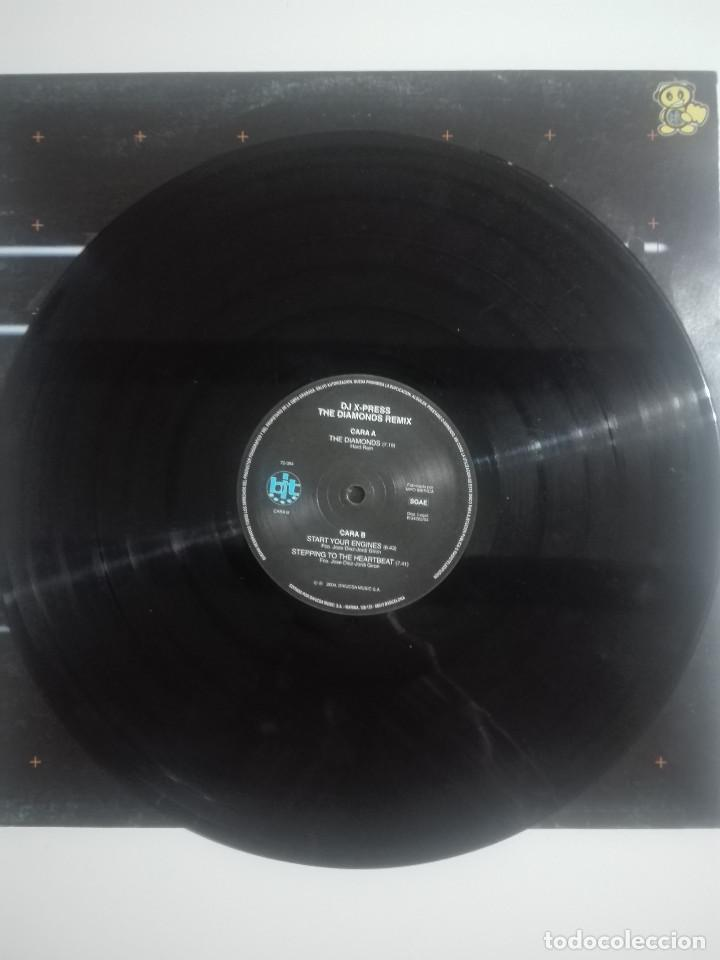 Discos de vinilo: DISCO VINILO DJ X-PRESS THE DIAMONDS REMIX - unico en TC - MAKINA - 250g - Foto 2 - 224650103