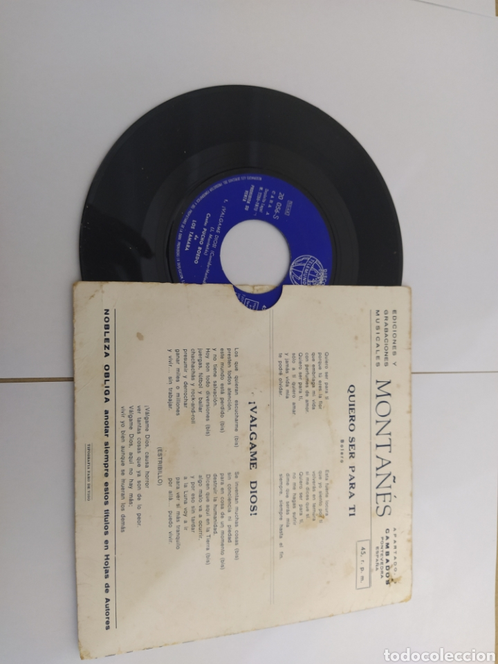Discos de vinilo: MM DISCO DE VINILO - PUCHO BOEDO DE LOS TAMARA - QUIERO SER PARA TI - Foto 2 - 224657283