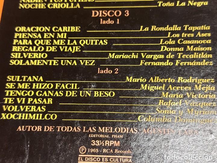 Discos de vinilo: LOS 36 MEJORES INTÉRPRETES DE AGUSTÍN LARA / ESTUCHE 3 LPS DE MUY BUENA CALIDAD. 1965. ***/*** - Foto 6 - 224658042