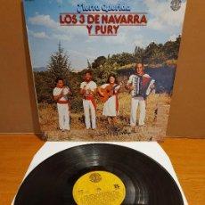 Discos de vinilo: LOS 3 DE NAVARRA Y PURY / TIERRA QUERIDA / LP - DOBLON-1980 / MBC. ***/***. Lote 224664977