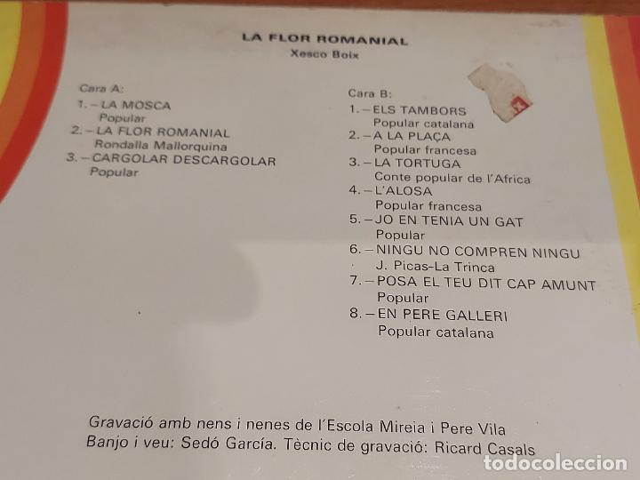 Discos de vinilo: XESCO BOIX / LA FLOR ROMANIAL / LP - PARDAL-1977 / MBC. ***/*** LETRAS. - Foto 3 - 224665475