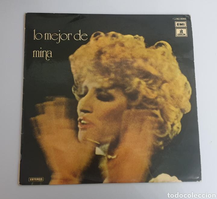 LP MINA - LO MEJOR DE MINA (ESPAÑA - ODEON - 1975) (Música - Discos - LP Vinilo - Canción Francesa e Italiana)