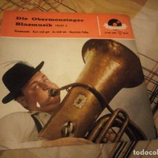 Discos de vinilo: DIE OBERMENZINGER BLASMUSIK – ROSAMUNDE,BRASS AND MILITARY. Lote 224691457