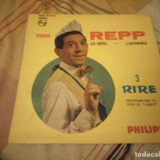 Discos de vinilo: PIERRE REPP – 3 - LES CRÊPES / L'AUTOMOBILE,COMEDIA. Lote 224691618