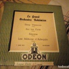 Discos de vinilo: GRAND ORCHESTRE BOHÉMIEN – SANG VIENNOIS. Lote 224692116