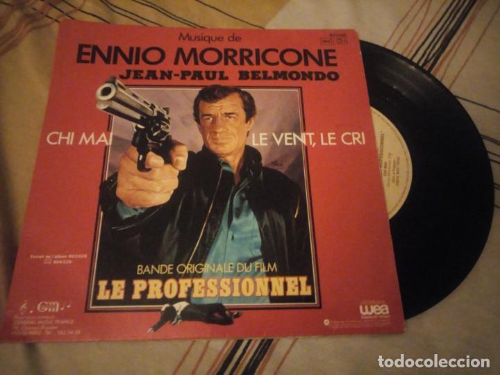 EL PROFESIONAL (BSO EP FRANCES 1981) LE PROFESSIONNEL - ENNIO MORRICONE - JEAN PAUL BELMONDO (Música - Discos - Singles Vinilo - Bandas Sonoras y Actores)