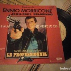 Disques de vinyle: EL PROFESIONAL (BSO EP FRANCES 1981) LE PROFESSIONNEL - ENNIO MORRICONE - JEAN PAUL BELMONDO. Lote 224694963