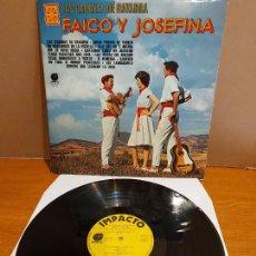 Discos de vinilo: FAICO Y JOSEFINA / LAS CADENAS DE NAVARRA / LP - IMPACTO-1977 / MBC. ***/***. Lote 224695618