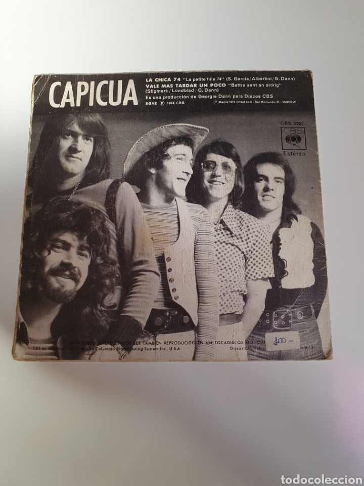 Discos de vinilo: Capicua - La Chica 74 / Mas Vale Tardar Un Poco, Cbs 1974. - Foto 2 - 224701487