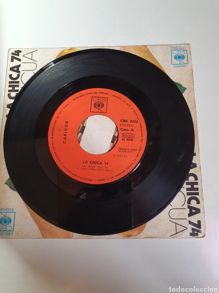 Discos de vinilo: Capicua - La Chica 74 / Mas Vale Tardar Un Poco, Cbs 1974. - Foto 3 - 224701487