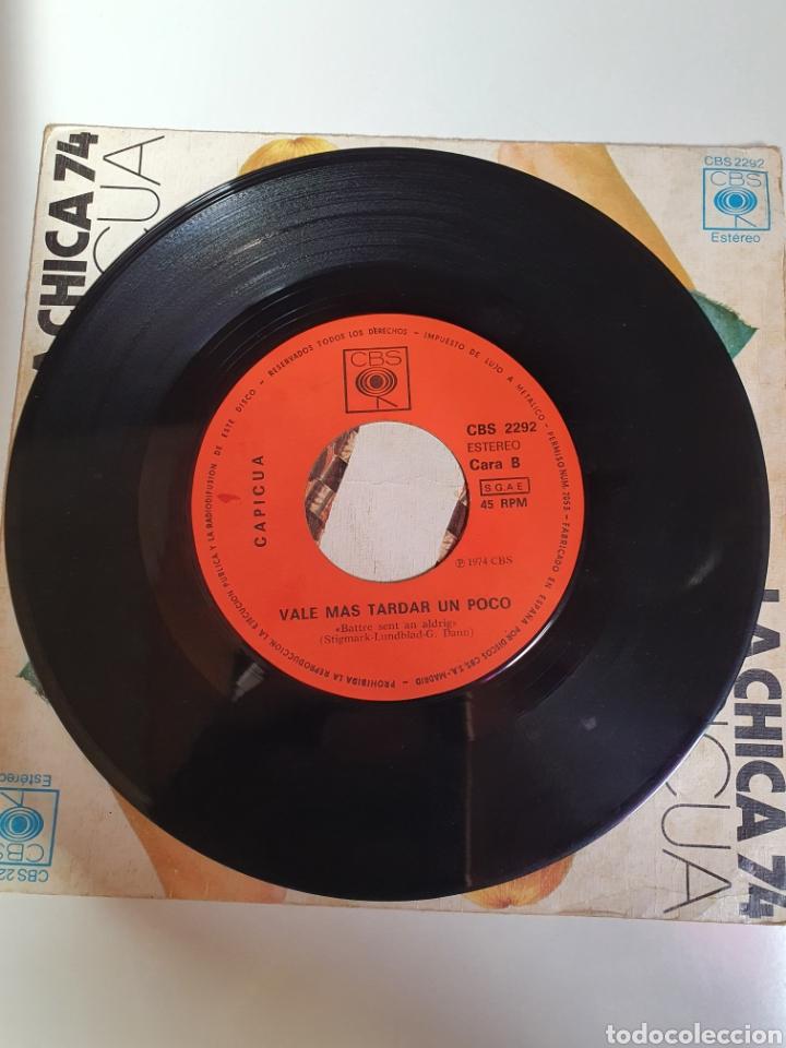 Discos de vinilo: Capicua - La Chica 74 / Mas Vale Tardar Un Poco, Cbs 1974. - Foto 4 - 224701487