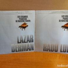 Discos de vinilo: LOS GRANDES PIANISTAS DE NUESTRO TIEMPO / CÍRCULO DE LECTORES EDICIÓN PLATA / 2 VINILOS DE LUJO.. Lote 224714010