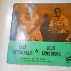 Disques de vinyle: ELLA FITZGERALD & LOUIS ARMSTRONG, EP, STOMPIN´AT THE SAVOY + 1, AÑO 1960. Lote 224714672
