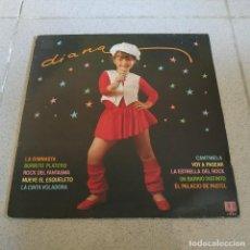 Discos de vinilo: DIANA - LA GIMNASTA + 9 - MUY RARO LP DEL SELLO BELTER DEL AÑO 1982 - INCLUYE ENCARTE CON LAS LETRAS. Lote 224715008