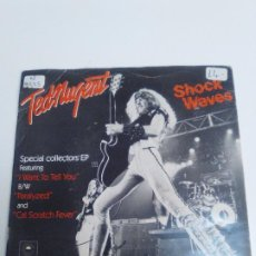 Discos de vinilo: TED NUGENT SHOCK WAVES I WANT TO TELL YOU / PARALYZED / CAT SCRATCH FEVER ( 1979 EPIC UK ) BEATLES. Lote 224720215