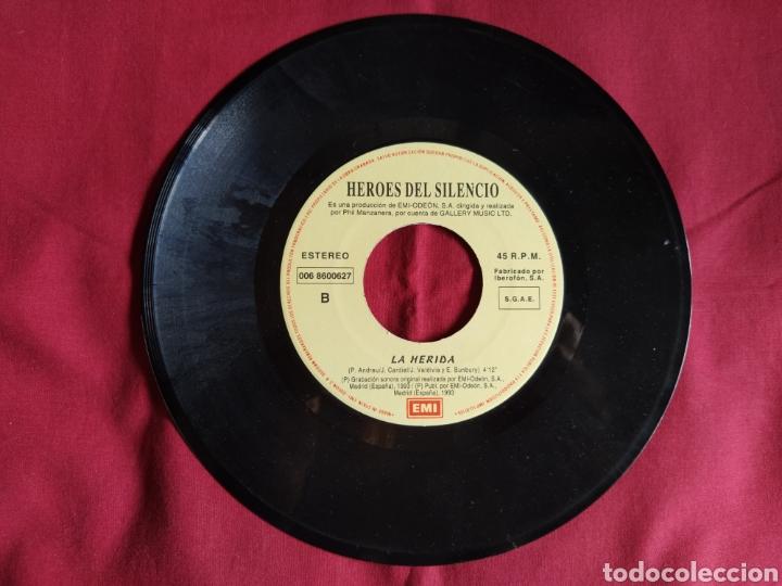 Discos de vinilo: Héroes del silencio / La Herida / Single 1 edición / Bunbury - Foto 3 - 224726846