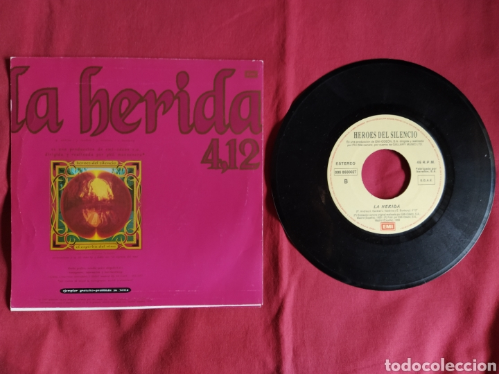 Discos de vinilo: Héroes del silencio / La Herida / Single 1 edición / Bunbury - Foto 6 - 224726846