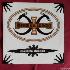 Discos de vinilo: HÉROES DEL SILENCIO / MALDITO DUENDE / BUNBURY. Lote 224729426