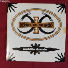 Discos de vinilo: HÉROES DEL SILENCIO / MALDITO DUENDE / BUNBURY. Lote 224731111