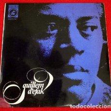 Discos de vinilo: GUILLEM D'EFAK (EP. CONCENTRIC 1965) PLORANT / SETEMBRE TEMPS PLUJOS - FEBRE - COM AHIR (EN CATALÀ). Lote 224760565