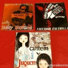 Discos de vinilo: SALVADOR ESCAMILLA (3 EPS. 1962-63-65) SE'N VA ANAR, MALLORCA FELIÇ, GERMÀ, MARY POPPINS (EN CATALÀ). Lote 224763593