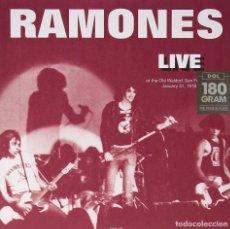Discos de vinilo: RAMONES * LP 180G HQ VIRGIN VINYL *LIVE OLD WALDORF 1978 * PRECINTADO. Lote 224775357