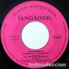 Discos de vinilo: FUNDADOR 10.205 - AGRUPACIÓN DE PASTORALES DE CÁDIZ– VILLANCICOS- EP 1970. Lote 224784363