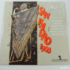 Discos de vinilo: LP VINILO SAN ISIDRO 1988- ANTONIO FLORES-JOAQUÍN SABINA-VÍCTOR MANUEL- ANA BELÉN.... Lote 224790087