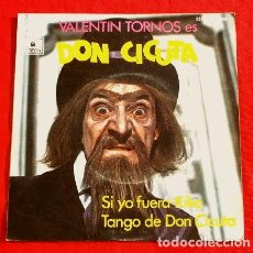 Discos de vinilo: DON CICUTA - VALENTIN TORNOS (SINGLE 1972) SI YO FUERA KIKO - DON CICUTA - UN DOS TRES RESPONDA TVE. Lote 224798211