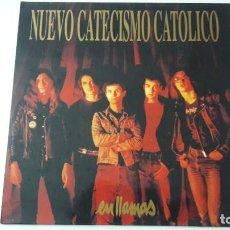Discos de vinilo: NUEVO CATECISMO CATOLICO EN LLAMAS ED. ORIGINAL 1995. Lote 224798433