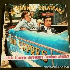 Discos de vinilo: HERMANOS CALATRAVA (EP BSO 1968) HUMOR - LA, LA, LA - EL CANTO DE LA LECHERA (TREN ZOO DE BARCELONA). Lote 224802145