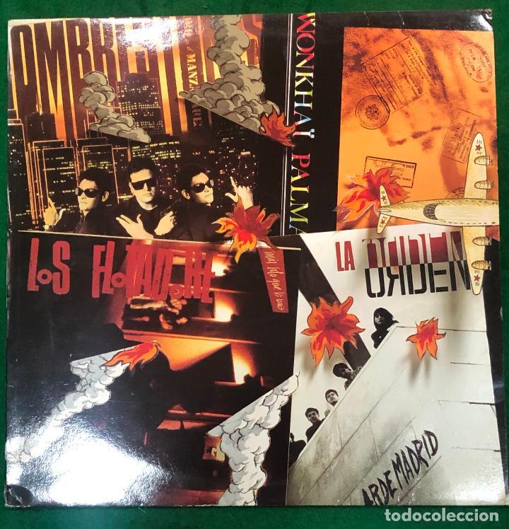 LOS FLOTADORES / LA ORDEN / HOMBRESTONES / WONKAÏ PALMA - LP DE 1990 RF-8810 , BUEN ESTADO (Música - Discos - LP Vinilo - Grupos Españoles de los 90 a la actualidad)
