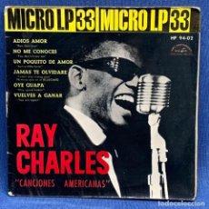 Discos de vinilo: SINGLE RAY CHARLES - CANCIONES AMERICANAS - ESPAÑA - AÑO 1962. Lote 224839696