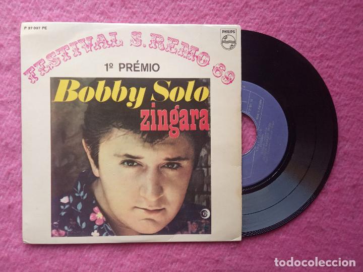 EP BOBBY SOLO - ZINGARA +3 - P 37 037 PE - PORTUGAL PRESS (EX+/EX-) SAN REMO 69 1º PREMIO (Música - Discos de Vinilo - EPs - Otros Festivales de la Canción)