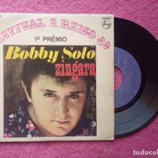 Discos de vinilo: EP BOBBY SOLO - ZINGARA +3 - P 37 037 PE - PORTUGAL PRESS (EX+/EX-) SAN REMO 69 1º PREMIO. Lote 224846801