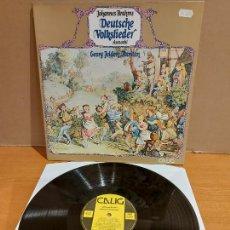 Discos de vinilo: JOHANNES BRAHMS / DEUTSCHE VOLKSLIEDER / LP-GATEFOLD - CALIG-1983 / CALIDAD LUJO. ****/****. Lote 224861548