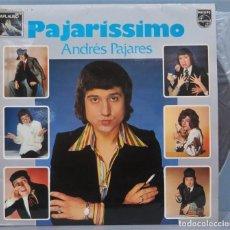 Disques de vinyle: LP. ANDRES PAJARES. PAJARISSIMO. Lote 224867565