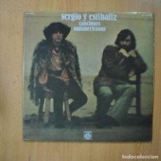 Dischi in vinile: SERGIO Y ESTIBALIZ - CANCIONES SUDAMERICANAS - GATEFOLD - LP. Lote 224880918