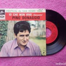 Discos de vinilo: EP PINO DONAGGIO - IO CHE NON VIVO +3 - ESRF 1624 - FRANCE PRESS (VG++/EX-) SAN REMO 1965. Lote 224889475