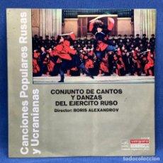 Discos de vinilo: LP - VINILO CONJUNTO DE CANTOS Y DANZAS DEL EJÉRCITO RUSO - CANCIONES POPULARES RUSAS Y UCRANIANAS. Lote 224889913