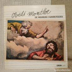 Disques de vinyle: OVIDI MONTLLOR - DE MANARS I GARROTADES - LP EDIGSA + HOJA CON LETRAS AÑO 1977 SPAIN - EXC. ESTADO. Lote 224896892