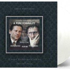 Discos de vinilo: ENNIO MORRICONE - A PURE FORMALITY BANDA SONORA ORIGINAL LTD 180G VINILO TRANSPARENTE LP NUEVO. Lote 224897610
