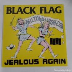 Discos de vinilo: BLACK FLAG - JEALOUS AGAIN - SST RECORDS - PUNK - HARDCORE - 12 PULGADAS. Lote 224898682