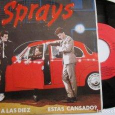 Discos de vinilo: SPRAYS TE VERE A LAS DIEZ. Lote 224906105