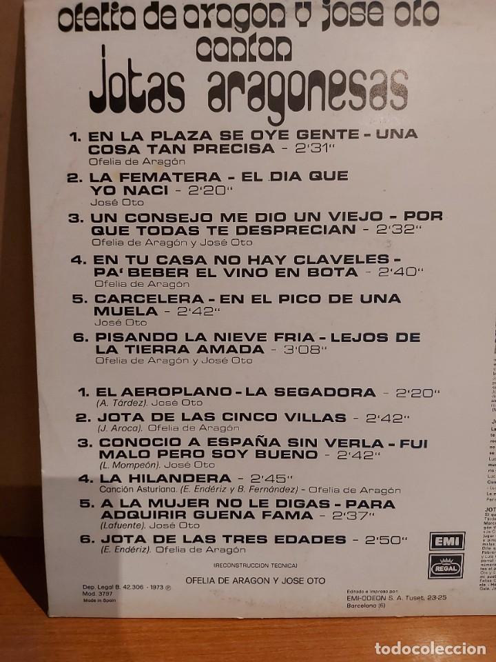 Discos de vinilo: OFELIA DE ARAGÓN Y JOSÉ OTO CANTAN JOTAS ARAGONESAS / LP-PROMO - REGAL-1973 / LUJO. ****/**** - Foto 3 - 224922285
