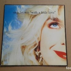 Dischi in vinile: SAM BROWN - WITH A LITTLE LOVE MAXI SINGLE 1990. Lote 224926735