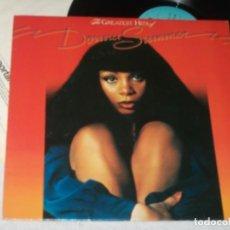 Discos de vinilo: DONNA SUMMER - THE GREATEST HITS OF ...LP DE GTO RECORDS -..EDICION U.K RARISIMO LP - 1977. Lote 224928926